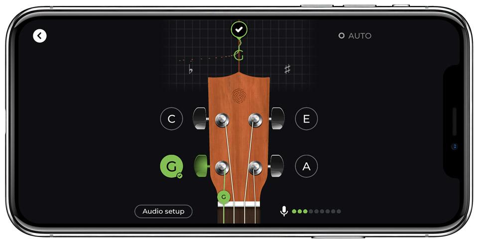 Ukulele tuner in Yousician鈥檚 ukulele learning app