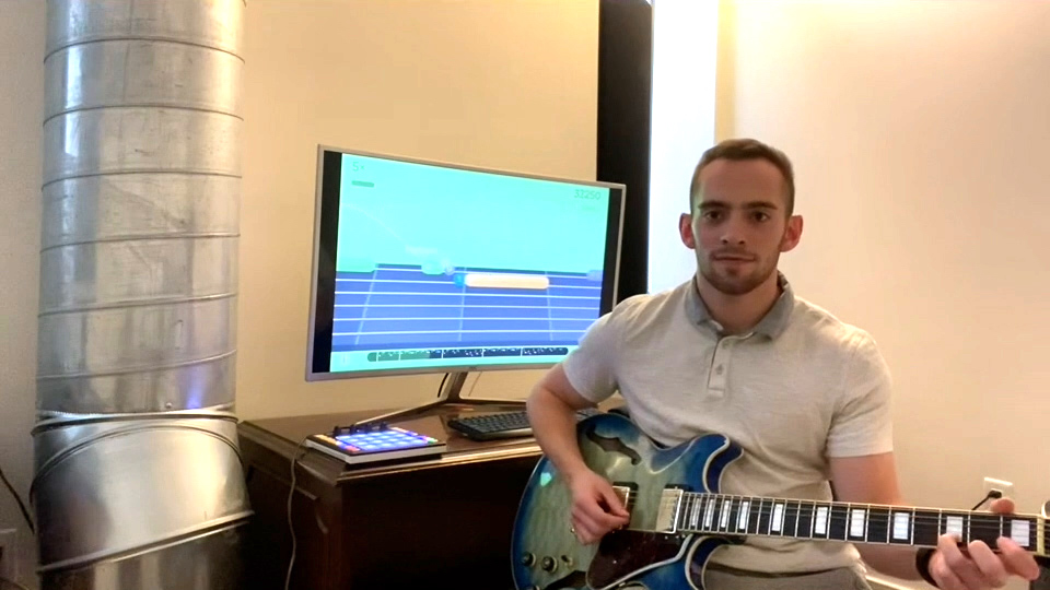 Michael Welde on acoustic and electric guitar